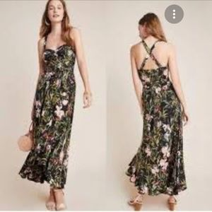 Anthropologie Maeve Gabriella Floral Maxi Dress. S